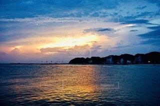 自然,風景,海,空,夕日,屋外,太陽,ビーチ,雲,島,夕暮れ,サンセット