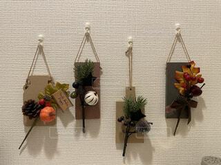 花,秋,白,花瓶,小物,植木鉢,壁,観葉植物,装飾,100均,トイレ,草木