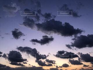 自然,風景,空,屋外,雲,夕暮れ,煙
