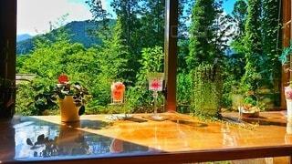 自然,風景,山,オレンジ,家,テーブル,樹木,草木