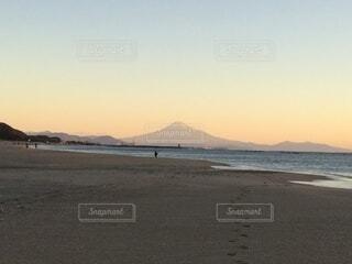 自然,風景,富士山,雲,海岸,山,景色,朝,元旦,日の出