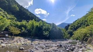 自然,風景,空,屋外,湖,雲,川,水面,山,樹木,静岡