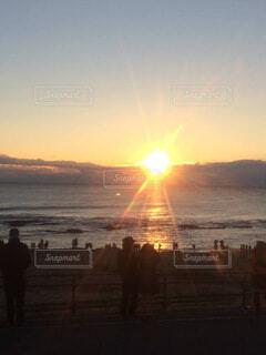 自然,空,屋外,太陽,ビーチ,雲,水面,日の出