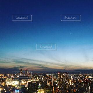 風景,空,夜,屋外,雲,都会,月,高層ビル,港