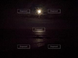自然,風景,空,夜,暗い,月