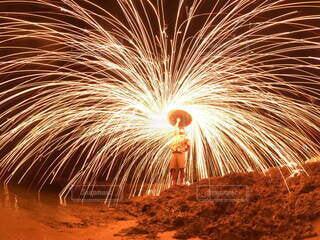 夏,花火,海辺,沖縄,宮古島,明るい,思い出,景観,夜遊び