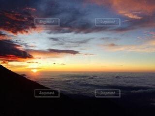 自然,風景,空,富士山,屋外,太陽,雲,朝焼け,雲海,日の出,早朝,富士登山