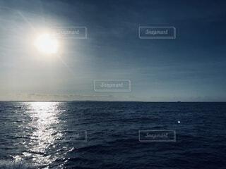 自然,風景,海,空,屋外,朝日,水面,沖縄,日の出