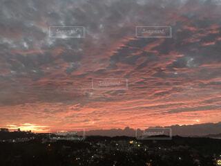 風景,空,屋外,太陽,朝日,雲,夜明け,朝焼け,日の出