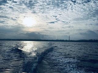 海,空,朝日,雲,水面,沖縄,夜明け,日の出