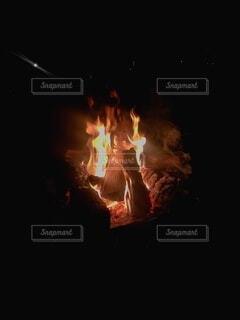自然,暗い,火,キャンプファイヤー,熱