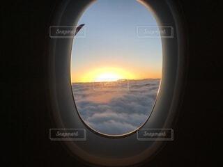 空,屋外,雲,飛行機,窓,空気