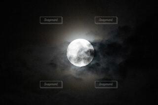 自然,風景,空,暗い,月,満月