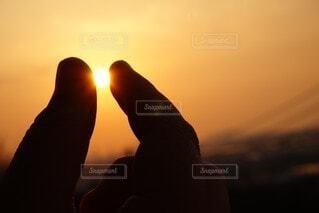 空,太陽,雲,夕暮れ,日の出,バックライト