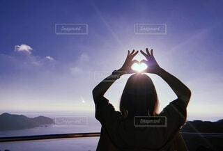 自然,空,屋外,太陽,雲,青空,影,光,人物,人