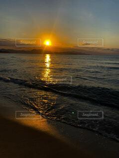 海,空,夕日,夕焼け,水平線,デートスポット,サンセット,恋,エモい,夕日が浦