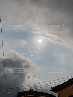 自然,風景,空,夜空,屋外,雲,月,満月,くもり,十五夜,中秋の名月