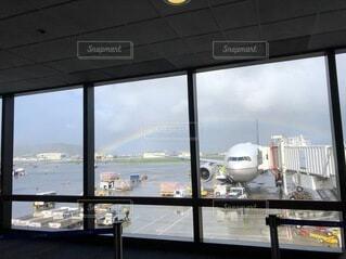 屋内,飛行機,虹,窓,船