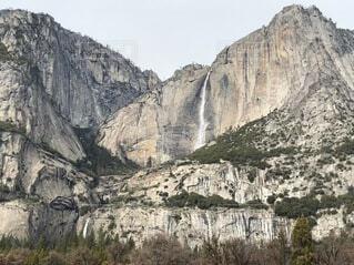 自然,風景,屋外,山,滝,岩
