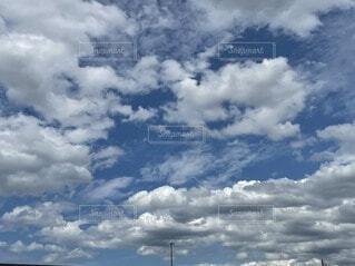 空,屋外,雲,くもり,積雲