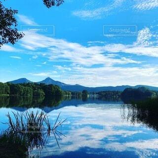 自然,風景,空,屋外,雲,水面,山,樹木