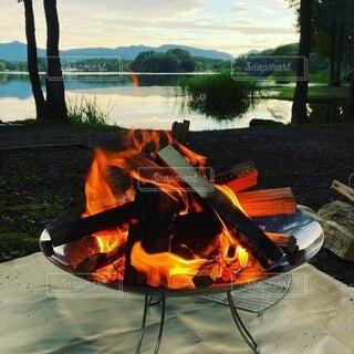 自然,屋外,湖,ピクニック,キャンプ,暖炉,火,コールマン,ファイアーディスク