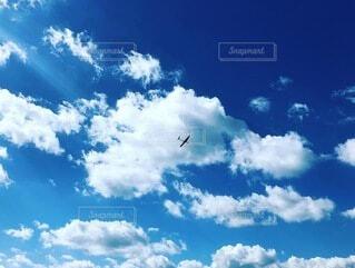 自然,空,屋外,雲,青空,青,飛行機,青い空,飛ぶ,くもり,日中,ラジコン