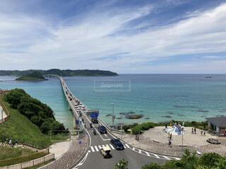 自然,海,空,橋,ビーチ,海岸