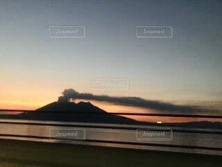 自然,風景,空,屋外,夕暮れ,火山