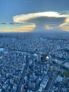 空,屋外,雲,都市,都会,高層ビル