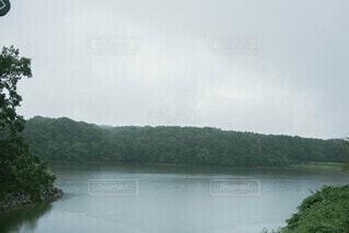 自然,風景,空,屋外,湖,雲,川,水面,霧,山,樹木