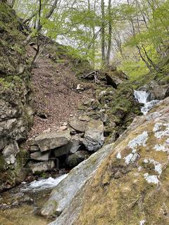 風景,山,岩