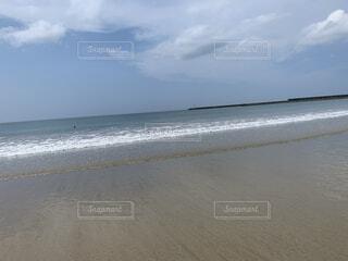 自然,空,屋外,砂,ビーチ,雲,水面,海岸