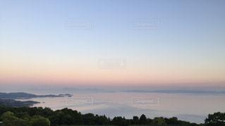 瀬戸内海の朝焼けの写真・画像素材[2819637]