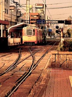 松山の路面電車の写真・画像素材[2924014]