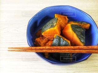 かぼちゃの煮物、かぼちゃの煮っころがしの写真・画像素材[3881172]