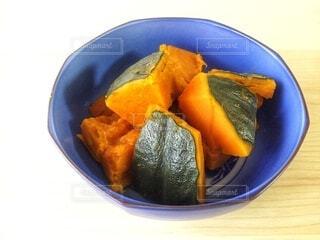かぼちゃの煮物、かぼちゃの煮っころがしの写真・画像素材[3881242]