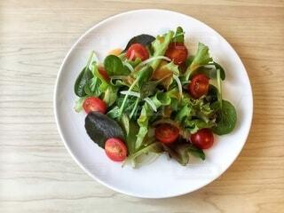 ベビーリーフとプチトマトのお手軽サラダの写真・画像素材[3904007]