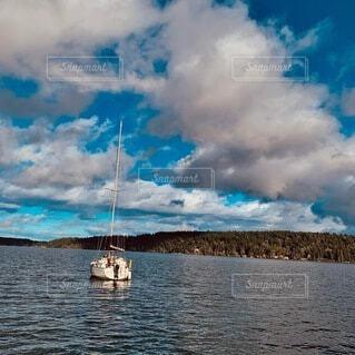 風景,海,空,屋外,湖,雲,ボート,船,水面,港,くもり,車両,水上バイク