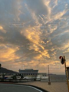 空,屋外,ビーチ,雲,夕暮れ
