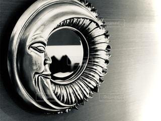 ひまわり,アート,鏡,月,メタリック,スケッチ,黒と白