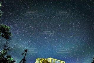 空,夜,屋外,樹木,栃木県,那須高原,テキスト,天文学