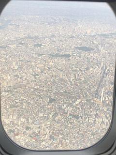 東京,飛行機,空から
