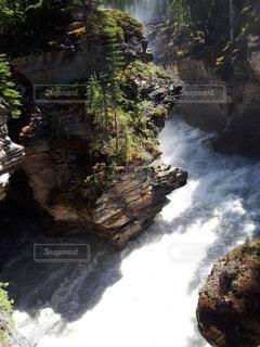 滝と渓谷の写真・画像素材[4834842]