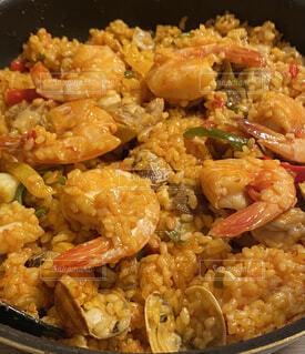 ランチ,ディナー,料理,スペイン,パエリア,海鮮,デート,海老,あさり,飲食,混ぜご飯