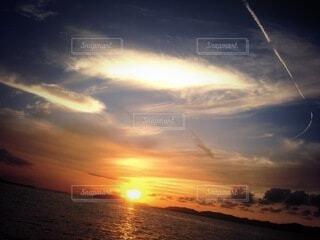 自然,空,夕日,屋外,湖,太陽,ビーチ,雲,夕暮れ,川,水面,出雲