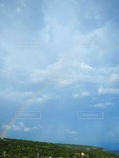自然,空,屋外,雲,虹,くもり,日中