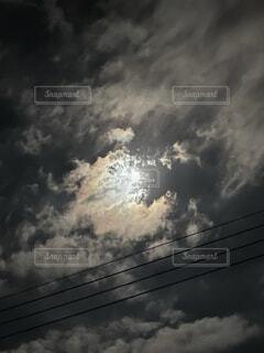 自然,風景,空,屋外,雲,暗い,月,トラック,煙,鉄道,くもり