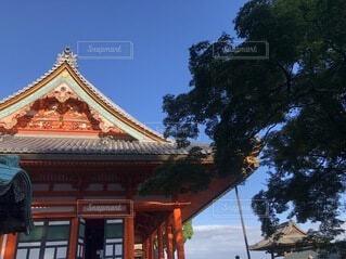 空,屋外,神社,雲,樹木,寺,建築,パゴダ