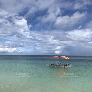 海,空,屋外,湖,ビーチ,雲,ボート,島,船,水面,沖縄